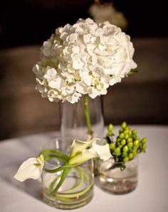 WeddingChannel Galleries: Small White Hydrangea Centerpiece