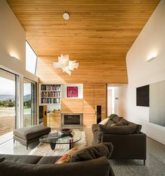 Sliding Panels, Metal Panels, Home Living Room, Living Area, Whole House Fan, Wedge, Narrow House, Grand Designs, Global Design