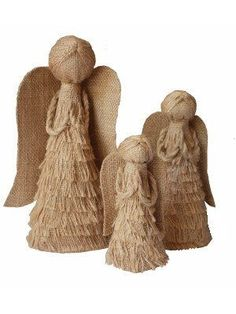 #fairtrade #sustainable jute Christmas angels