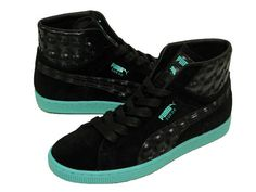 Puma X Meek Mill Suede Classic Hi Black/Green Mens 12 #PUMA #Trainers