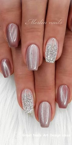 img) Want to see new nail art? These nail designs are really great Picture 98 img) Want to see new nail art? These nail designs are really great Picture 98 ,Ładne paznokcie art designs nail designs nails nails nail art Fancy Nails, Cute Nails, Pretty Nails, Glitter French Nails, Glitter Nail Polish, Rose Gold Nails, Winter Nail Designs, Simple Nail Designs, Winter Nail Art