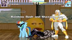 The Annoying Orange & Max Power Younger Toguro VS Shazam & Rainbow Dash In A MUGEN Match / Battle This video showcases Gameplay of The Annoying Orange And 100% Max Power Younger Toguro From The Yu Yu Hakusho Series VS Shazam The Superhero And Rainbow Dash From The My Little Pony Friendship Is Magic Series In A MUGEN Match / Battle / Fight