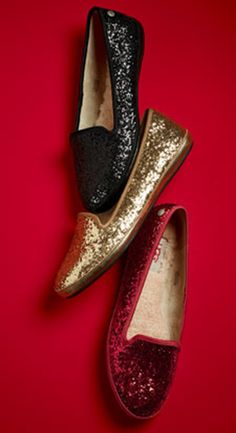 Glitter UGG flats - I'll take a pair in each color, please!
