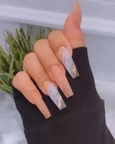 Bling Acrylic Nails, Acrylic Nails Coffin Short, Best Acrylic Nails, Rhinestone Nails, Stiletto Nails, Marble Acrylic Nails, Polygel Nails, Glitter Nails, Long Square Acrylic Nails