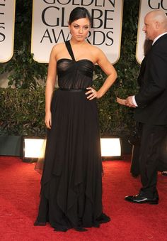 Pin for Later: We're So Obsessed With Mila Kunis's Glowing Style Mila Kunis Style Profile She rocked a wow-worthy Christian Dior gown at the Golden Globes in 2012.