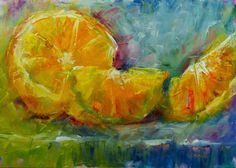 Sue ChurchGrant Daily Painting: Day 29: Colorful Orange Pieces
