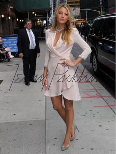 Blake Lively Wears Jenny Packham on David Lettterman - Merci New York