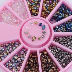 Buy 1 Box Mixed Color Pearl Shaped Beads at JacLauren.com