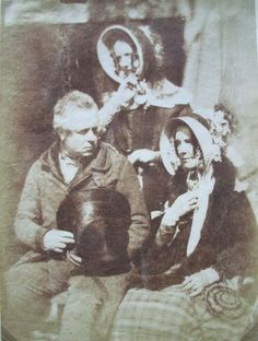 David Octavius Hill (1802-1870) and Robert Adamson (1821-1848), Mrs. Maule, Mr. and Mrs. Hamilton, ca. 1845. Salted paper print. GC137 Early Photography Collection. GA 2005.00254