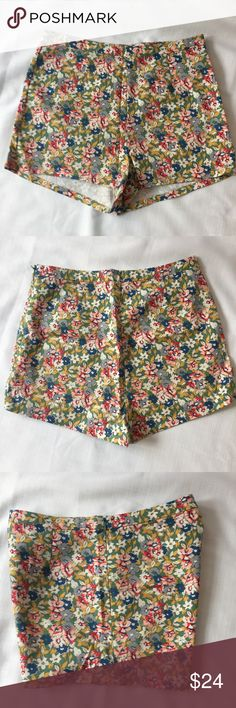 """Urban Outfitters Kimchi Blue floral shorts sz 8 Cute high waisted floral shorts from Kimchi Blue for Urban Outfitters.  Approximate flat lay measurements: waist/hip 14.5"""", rise 11"""", inseam 2"""". Urban Outfitters Shorts"""