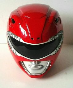 Mighty Morphin Red Ranger Helmet. If interested in purchasing, I'll leave a link for you to click on (visit button). Be weary, however...each helmet he sells is approximately $450. Just PM him or send him a request in the comments section (on Facebook).  #SonGokuKakarot