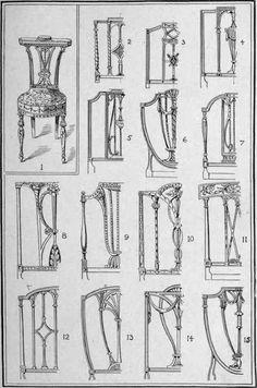Sheraton. II. Antique Chair backs identification