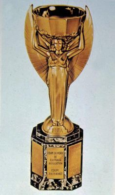 Undated file photo of the Jules Rimet Cup, awarded to the winners of the World Cup Final, which were held for the first time in Montevideo, Uruguay, July 30, 1930. Uruguay defeated Argentina, 4-2 in the World Cup Final, and the winning team was awarded the Rimet Cup. (AP Photo)