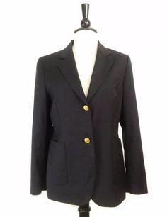 Brooks Brothers 346  Gold Metal Buttons 100% Wool Dark Navy Blue Blazer Jacket #BrooksBrothers #Blazer #fashion #style #shopping