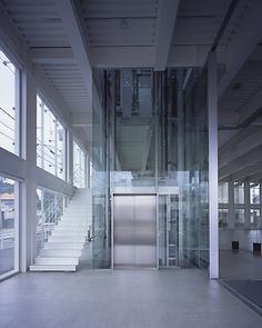 Glass elevator of a different sorts.  OG Giken Tokyo Branch, Tezuka Architects.