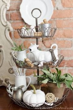 styled tiered tray
