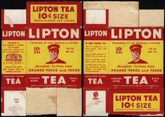 Lipton Tea - 10-cent black tea box - 1940's by JasonLiebig, via Flickr