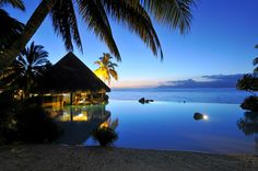 Twilight in paradise. What's another caption for this image?