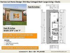 Bay Cottage 645 sq feet or 2 Bedroom 2 bed image 7 8x12 Shed Plans, Shed Floor Plans, Small House Floor Plans, Shed Building Plans, Diy Shed Plans, Bedroom House Plans, Cottage House Plans, Flat House Design, House Plans For Sale