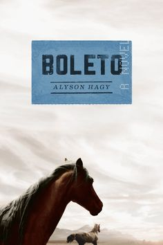 Boleto by Alyson Hagy // How can you resist Will Testerman and his filly? An unforgettable story of men and horses, the American West, and the dream of a ticket out.