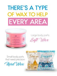 The recommended waxes for large body parts like legs, arms, and back, and smaller parts like the face are not the same. Soft Wax is wonderful for large areas of the body and Hard Wax is perfect for smaller ones. Types Of Wax, Body Waxing, Small One, Body Parts, Arms, Face, Beauty, Parts Of The Body, The Face