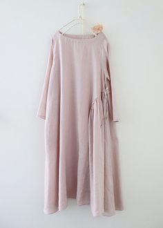 라르니에 정원 LARNIE Vintage&Zakka Comfy Dresses, Linen Dresses, Casual Dresses, Modest Fashion, Fashion Dresses, Embroidery Suits Design, Indian Gowns Dresses, Couture Details, Plus Size Outfits