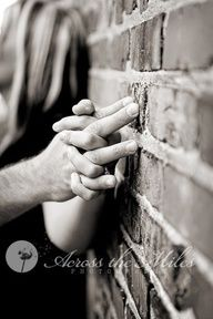 Both our senior pictures were against a brick wall, I would love a couple photo against one too.
