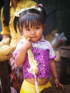 A picture of innocence . Kalaw Market, Myanmar.