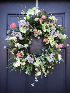 Your place to buy and sell all things handmade Green Hydrangea, Hydrangea Wreath, Floral Wreath, Spring Door Wreaths, Green Wreath, Fall Door, Grapevine Wreath, Spring Time, White Flowers