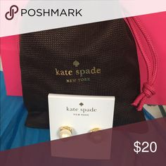 Earrings Beautiful elegant gold tone with cream colored pearl. Kate spade brand new comes with dust bag. kate spade Jewelry Earrings