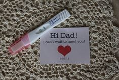 cute way to tell husband you're pregnant - Google Search