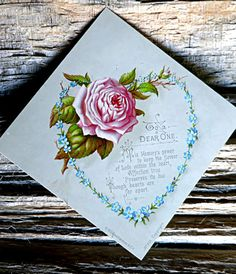 Victorian Greeting Card Victorian Card Antique Card by mybonvivant