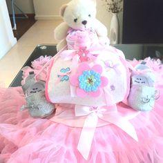 Lil ballerina diaper cake