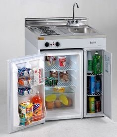 """30"""" Complete Compact Kitchen with 3.8 cu. ft. Capacity All-Refrigerator Stainless Steel Sink with Chrome Faucet Radiant Element Smooth Cooktop Storage Area with 2 Shelves: by Avanti, http://www.amazon.com/dp/B005GYKHWQ/ref=cm_sw_r_pi_dp_3i6hsb0SD1TAR"""