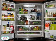 From Overwhelmed to Organized: Day 21: Fridge {31 Days of Easy Decluttering}