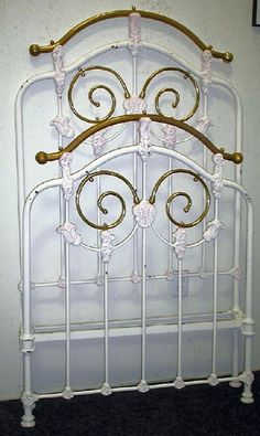 Cozy Bedroom, Master Bedroom, Antique Iron Beds, Vintage Bed Frame, Iron Headboard, Brass Bed, Bed Furniture, Furnitures, Twin