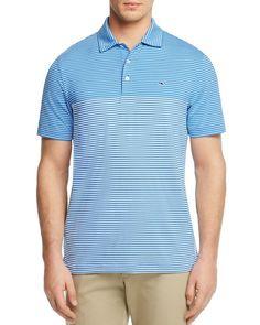 Vineyard Vines Newport Stripe Golf Regular Fit Polo Shirt