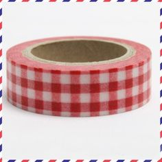 Washi Tape Red White Gingham Check 1 roll of adhesive paper tape 10m x 1.5 cm somi http://www.amazon.co.uk/dp/B011810NR4/ref=cm_sw_r_pi_dp_0NjYvb01ENFNH