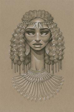 Ces somptueux portraits réalisés au fusain illustrent toute la beauté des…