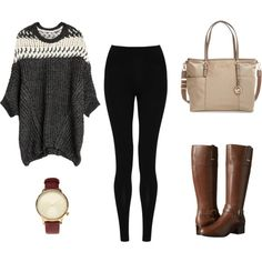 A fashion look from December 2015 featuring M&S Collection leggings, Bandolino boots and MICHAEL Michael Kors handbags. Browse and shop related looks.