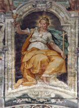 Giovanni Chepers detto il fiammingo,Silla Piccinini, Benedetto Bandiera, Virtù, Perugia, ab. S. Pietro.