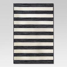 Fabulous Black + White Outdoor Finds at Target - Black + White Stripe Rug