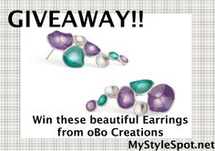 A fabulous statement-making piece of jewelry for summer #contest #win #obocreations #giveaway #jewelry #earrings #violet #emerald #fashion #style #shopping #mystylespot OPEN WORLDWIDE #womensfashion #ootd #pinoftheday #fashionblogger #womensfashionblog