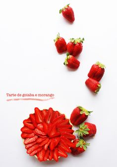 tarte de goiaba e morango | guava and strawberry pie