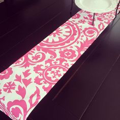 Table Runner PINK Suzani Premier Prints by LittlestBeanBoutique, $12.99