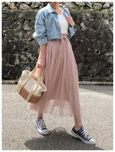 15 perfect skirt outfits for today's fashion page 7 Long Skirt Fashion, Long Skirt Outfits, Modest Outfits, Classy Outfits, Casual Dresses, Casual Outfits, Long Skirt Style, Cool Outfits For Girls, Long Skirt Looks