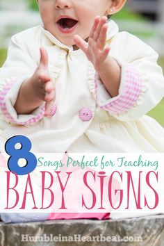 You can turn pretty much any song into an action song by using some baby sign language. Your child will love to sing these 8 songs that are perfect for teaching baby signs! Sign Language Songs, Simple Sign Language, Learn Sign Language, Sign Language Interpreter, Teaching Baby Sign Language, Language Lessons, Baby Songs, Baby Music, Kids Songs