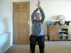 Zumba 5 min chair workout #1 - YouTube