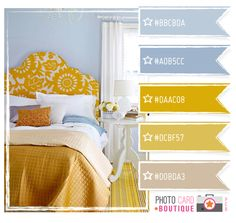 blues with beige and a hint of yellow--not the bold gold.