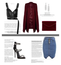 """VERMELHO"" by emmydcp ❤ liked on Polyvore featuring Kerr®, Giuseppe Zanotti, Calvin Klein Collection, Adriana Orsini, Rebecca Minkoff and WithChic"